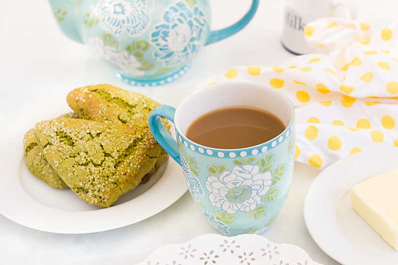 Get on the Matcha bandwagon with these Honey Matcha scones. Sporting a sweet exotic flavor and fiber from whole wheat flour, there's no room for guilt.