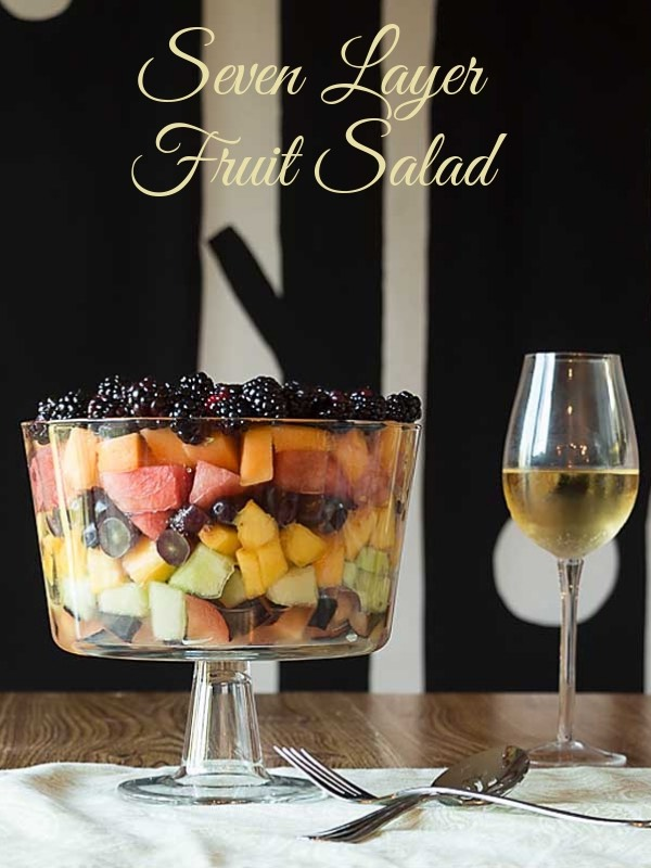 With layers of seven different fruits in alternating colors, and an amazing simple sauce, this Seven Layer Fruit Salad makes it exciting to eat a rainbow!