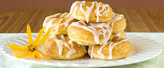 Baked Lemon Donuts with Lemon Drizzle