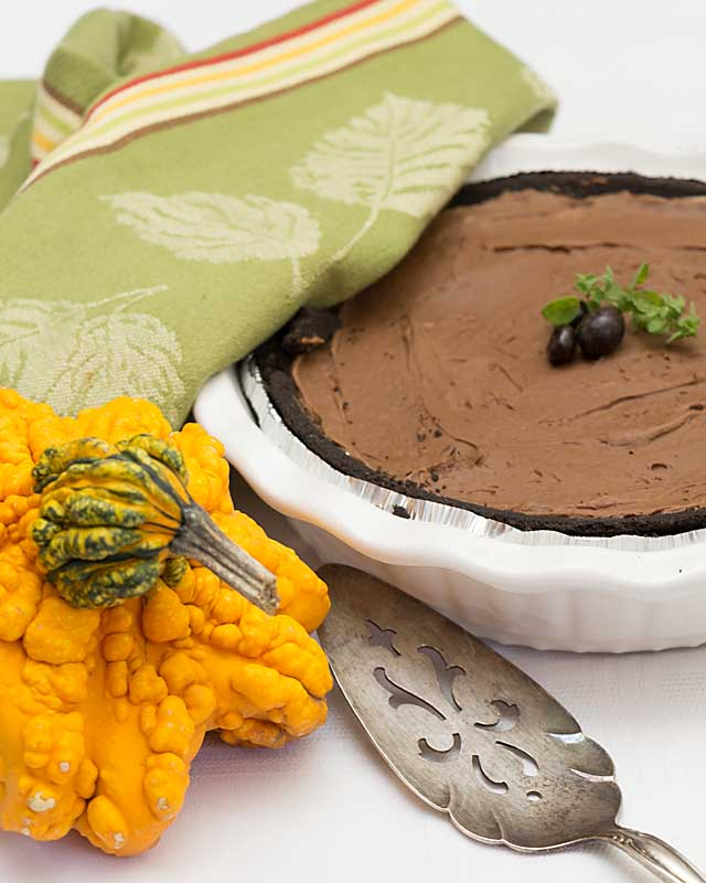 Rich and chocolatey with a chocolate cookie crust, this Chocolate Mascarpone Pie is quick and easy and perfect for any occasion.