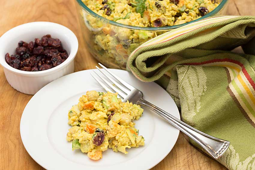 With turkey, sweet potato and cranberry this Curried Rice Salad is perfect for using up some Thanksgiving leftovers. Make up a big bowl for visitors--or use chicken any day!