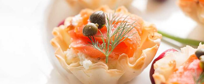 A Big Green Party and Salmon Phyllo Cups