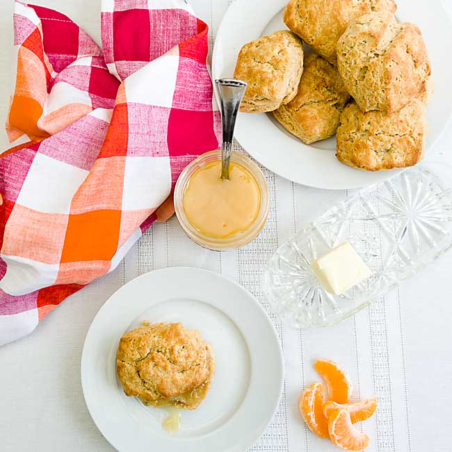 Baking with healthy white whole wheat flour means you don't have to worry about eating a fun comfort food like white whole wheat biscuits anymore.