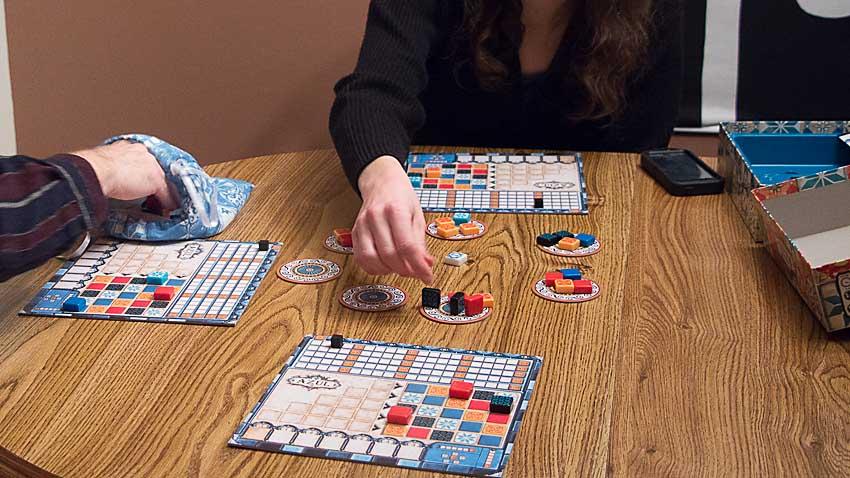 playing azul