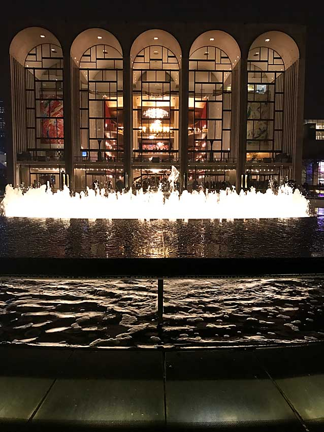 Fountain at Lincoln Center