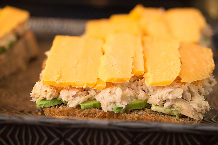 With no chopping and a just few minutes under the broiler, easy avocado salmon melt is a perfect comfort food for a blustery day.