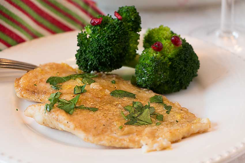 Topped with a classic browned butter and lemon sauce, plus a sprinkling of parsley, Sole Meuniere is a flavorful and elegant entree that is easy to prepare.