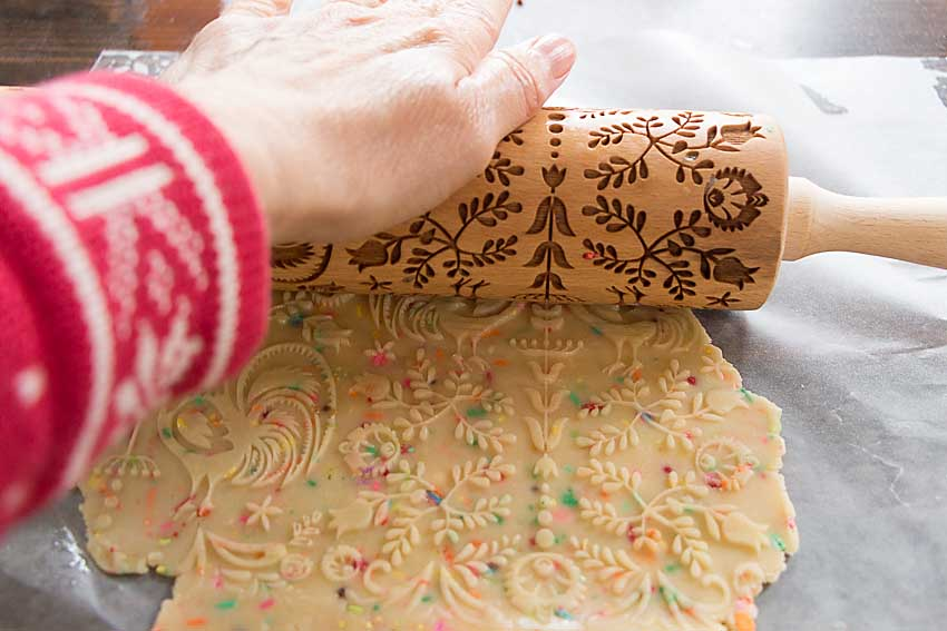 Using an embossed roller