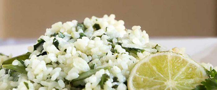 Cilantro Lime Rice with Snow Peas