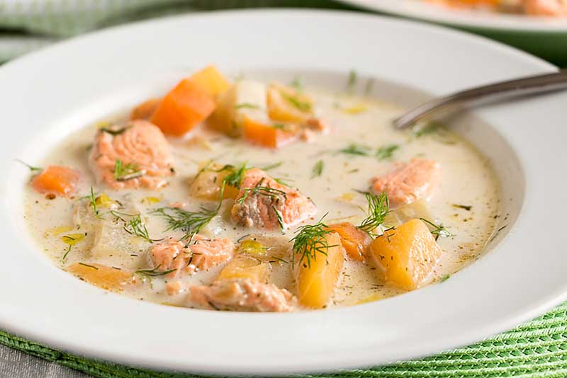 Finnish Salmon Soup Lohikeitto Art Of Natural Living