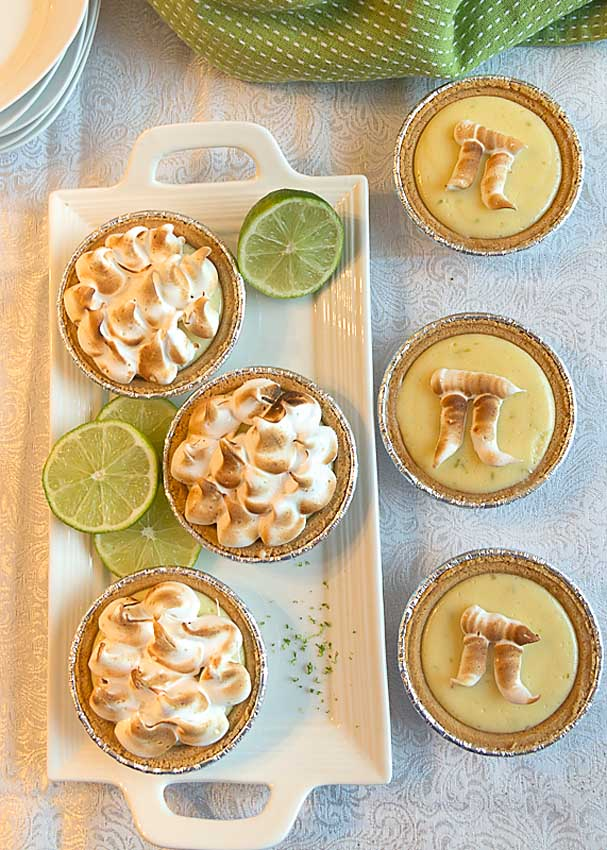 Key Lime Meringue Pie is a special treat that is deceptively easy to make and perfect Pi Day or any time. I even serve it Thanksgiving!