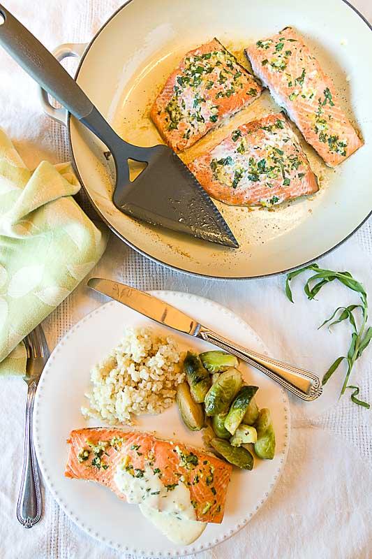 Lemon Tarragon Salmon with Quick Béarnaise