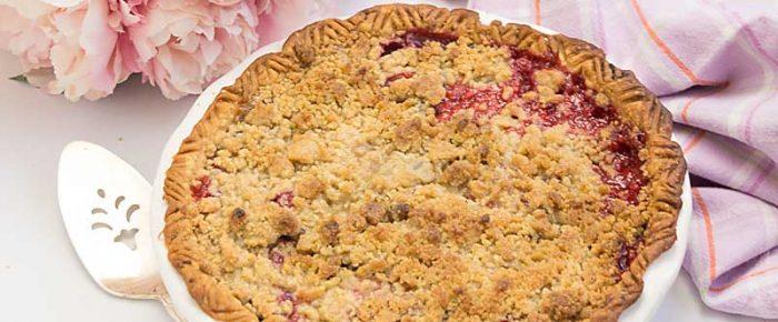 Raspberry Plum Streusel Pie