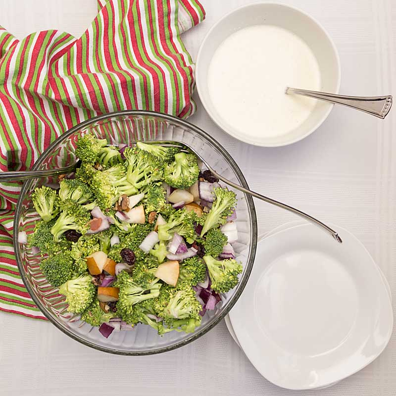 Crunchy with a hint of sweetness, Broccoli Waldorf Salad is healthy and tasty. Perfect for summer picnic season--or anytime of the year!