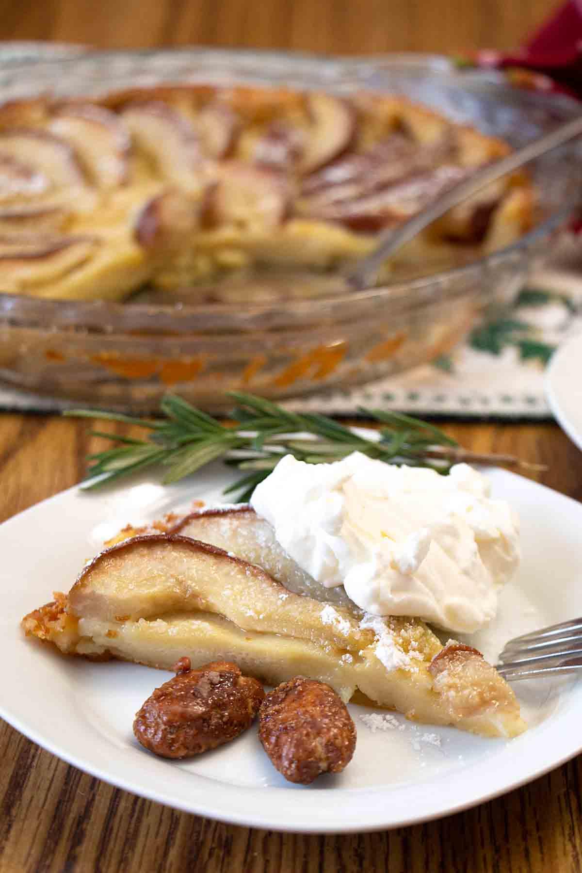 Pear Custard Tart