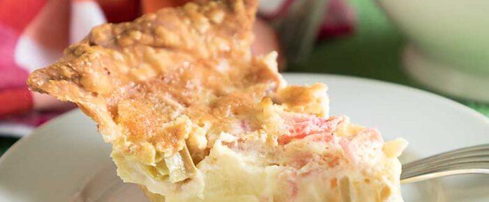 Easy Rhubarb Custard Pie