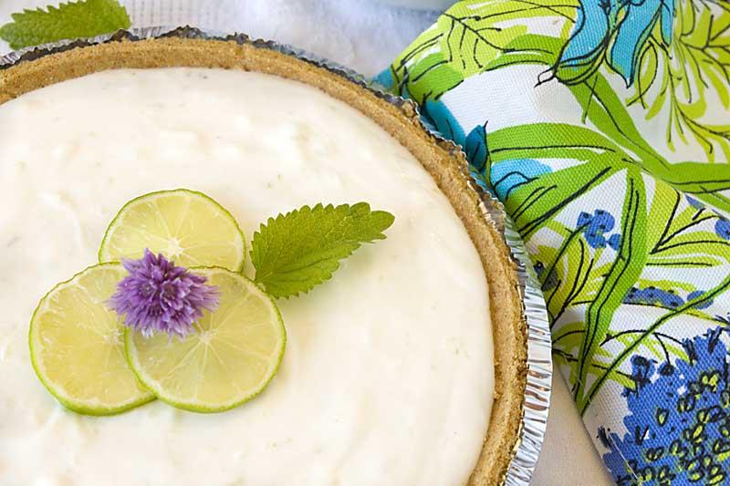 Key Lime Yogurt Pie adds probiotics to a tasty summer dessert that is no-bake!