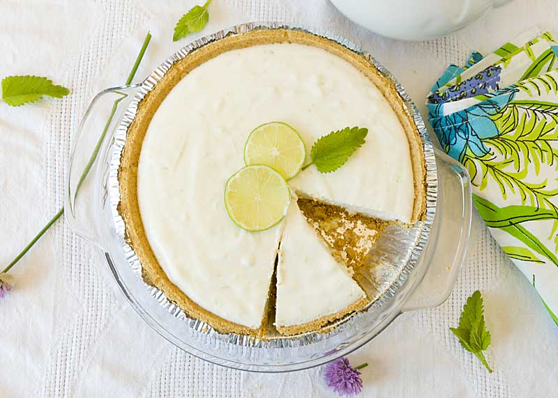 Key Lime Yogurt Pie adds probiotics to a tasty summer dessert for a light snack without the guilt!