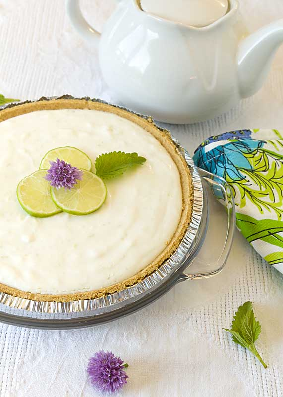 Key Lime Yogurt Pie adds probiotics to a tasty summer treat for a light pie without the guilt!