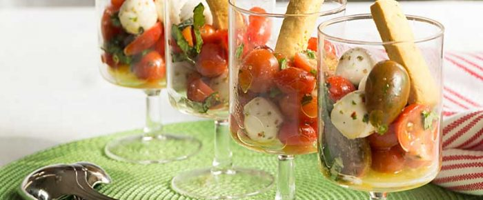 Deconstructed Caprese Salad Appetizer