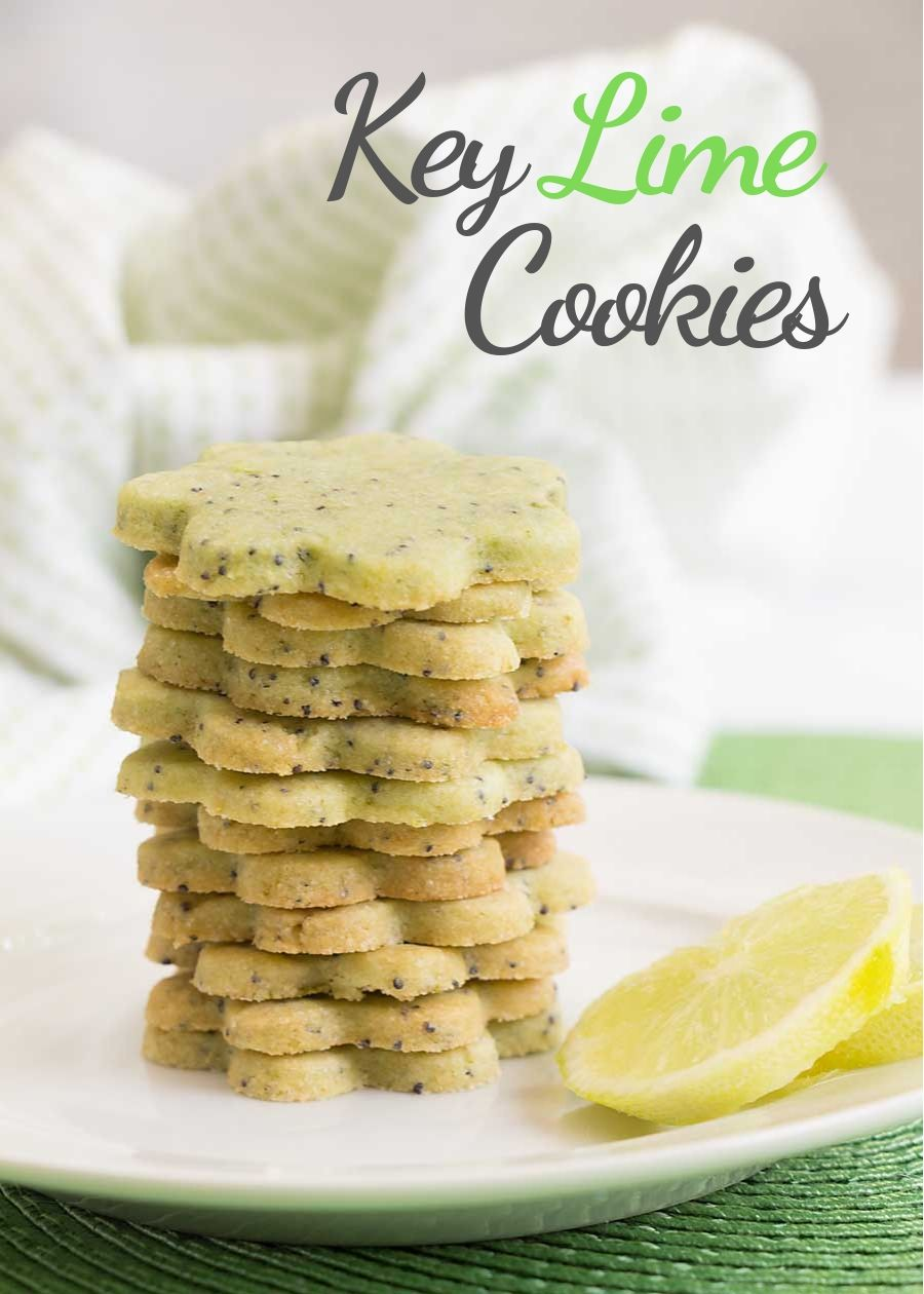"""Sweet, tart and practically shouting """"summer fun"""", key lime cookies are a perfect snack. Or dessert. Or picnic treat. Did someone say pot luck?"""