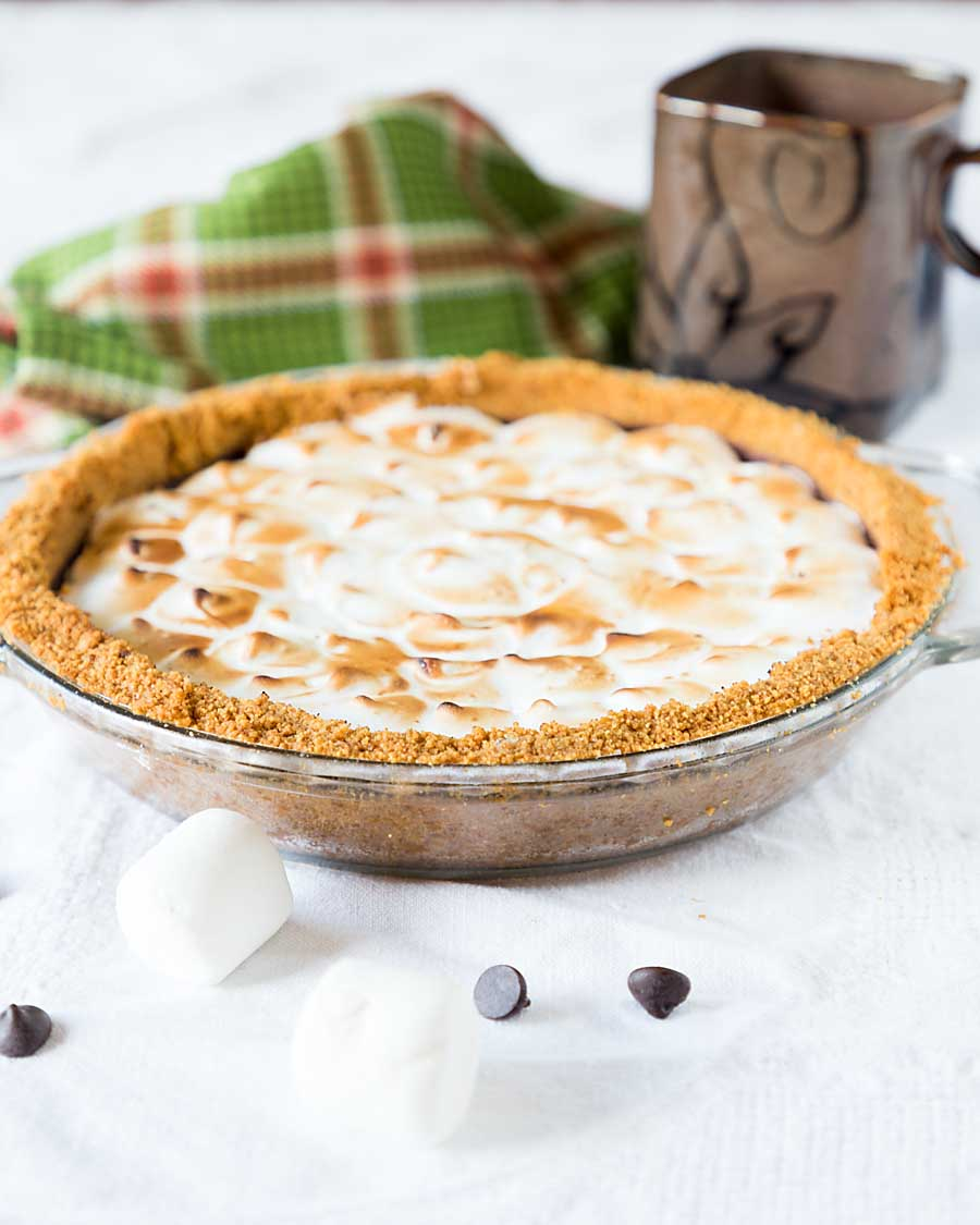 Get the fun and flavor of a campfire in a s'mores pie. With a graham crust, chocolate filling and marshmallowy meringue topping, who needs a campfire?
