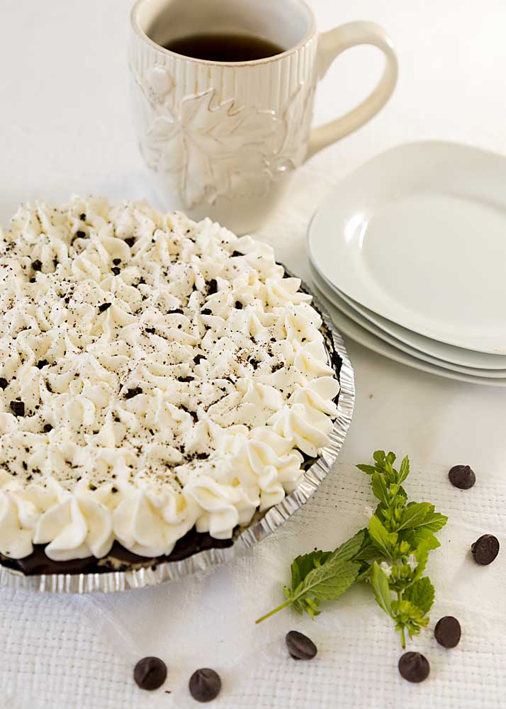 Coffee Fudge Ice Cream Pie, with its cookie crust, velvety ice cream, fudge layer and whipped topping is like a perfect sundae in pie form.