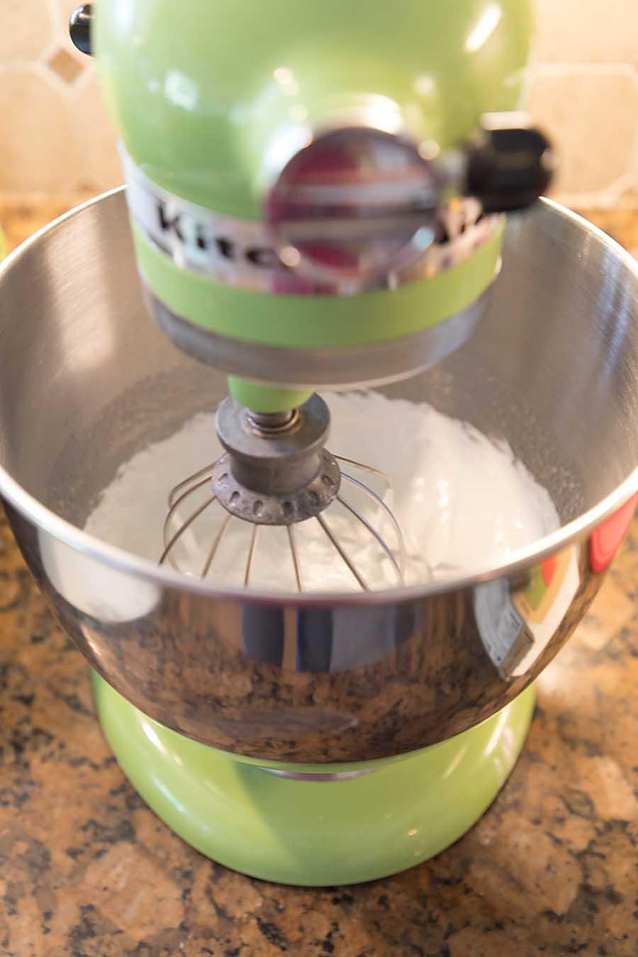 Making Swiss Meringue Buttercream