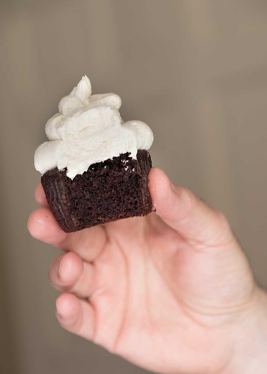 Chocolate cupcake with Swiss Meringue Buttercream