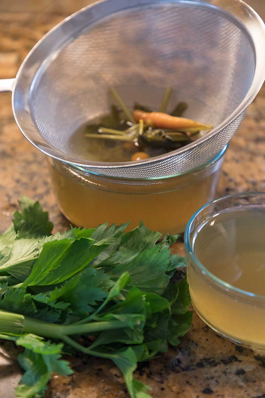Homemade vegetable broth is easy, quick--and better than many commercial varieties.  You can even make it from carrot ends and other scraps!