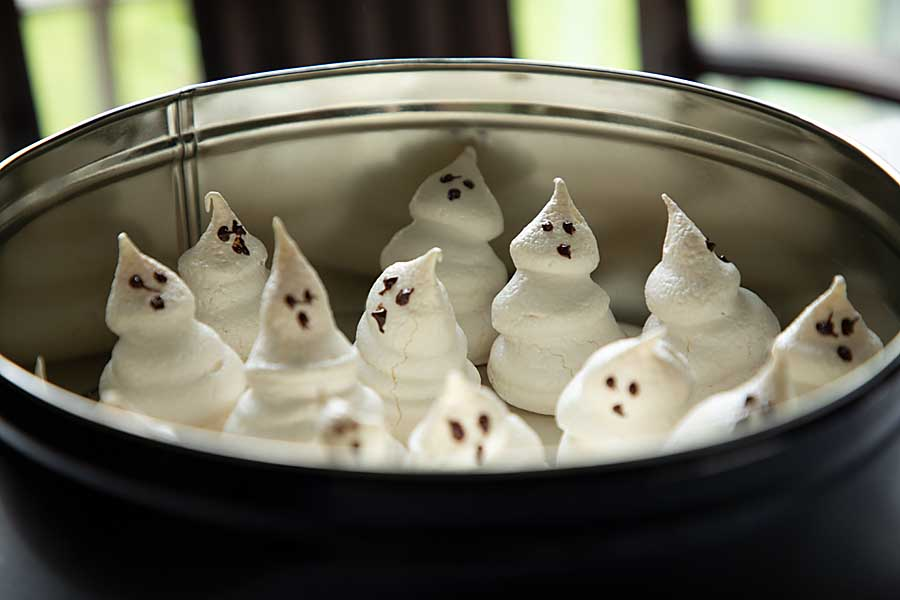 Halloween is a holiday made for fun! Make something cute like these Meringue Ghost Cookies--just 5 ingredients--before time gets away!