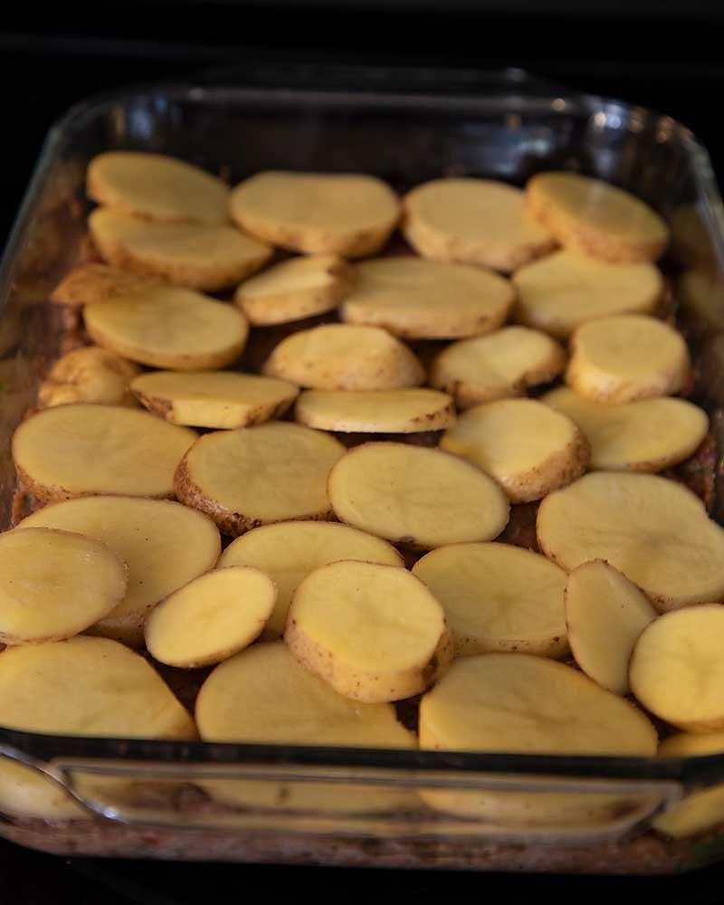 top with potato slices