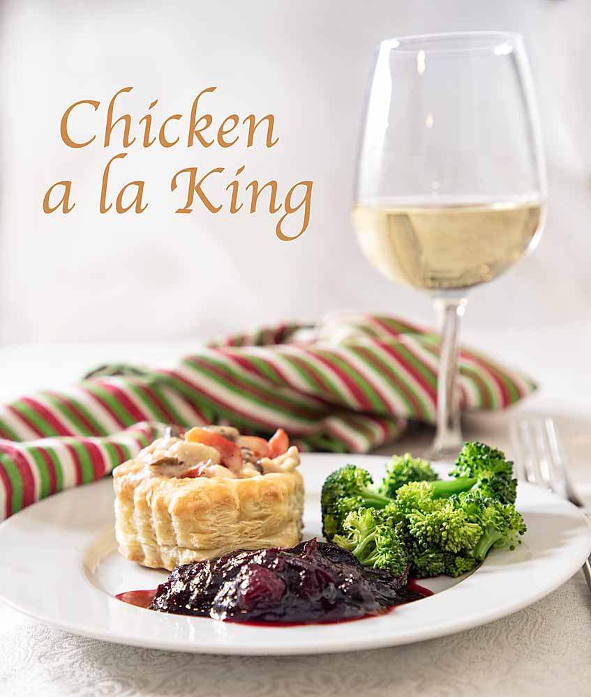 Rich and creamy, with a hint of sophistication, Chicken a la King is like adult comfort food. Serve in pastry cups or over rice or toast..