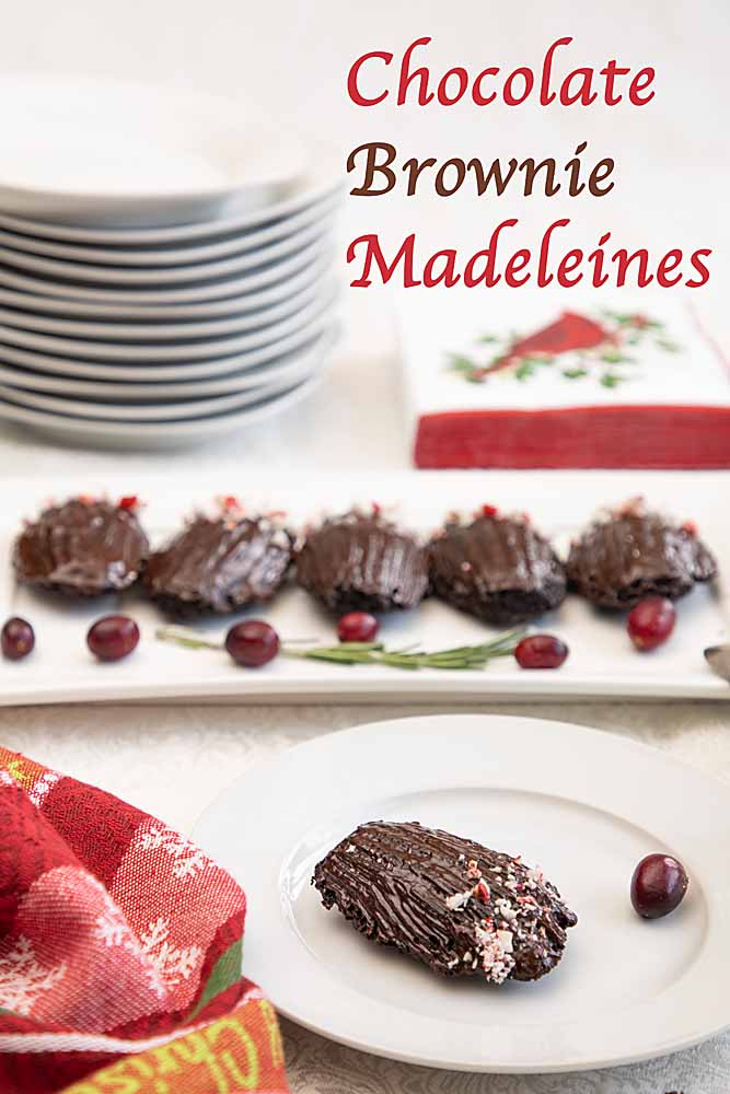 These Chocolate Brownie Madeleines combine dark chocolatey flavor with a unique combo of light, chewy and crunchy. Is it a cake or a cookie?