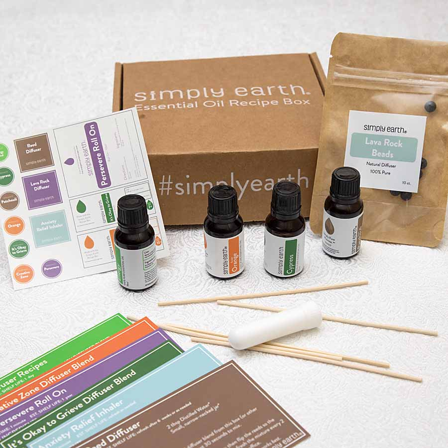 ingredients for Homemade Essential Oil Reed Diffusers