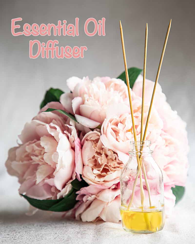 homemade essential oil reed diffuser