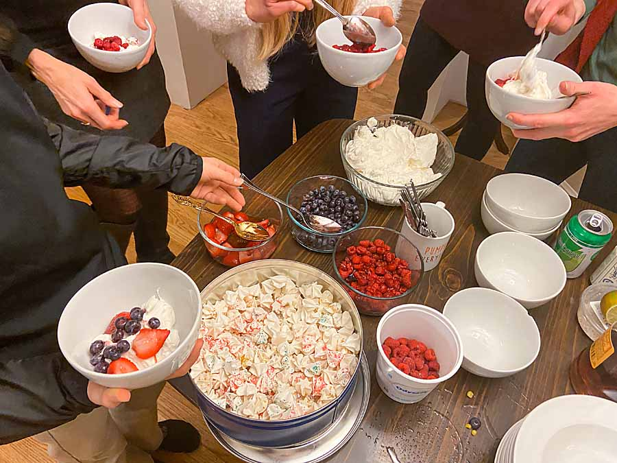 Bringing together great flavor and a whole lot of fun, the Eton Mess Bar lets guests mix meringue, fruit and whipped cream for a festive dessert.