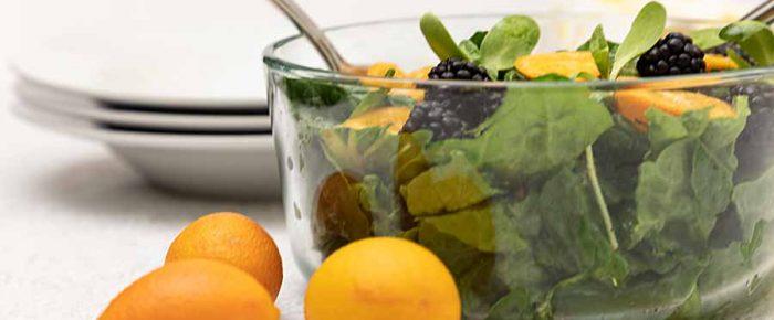 Kumquat Blackberry Salad