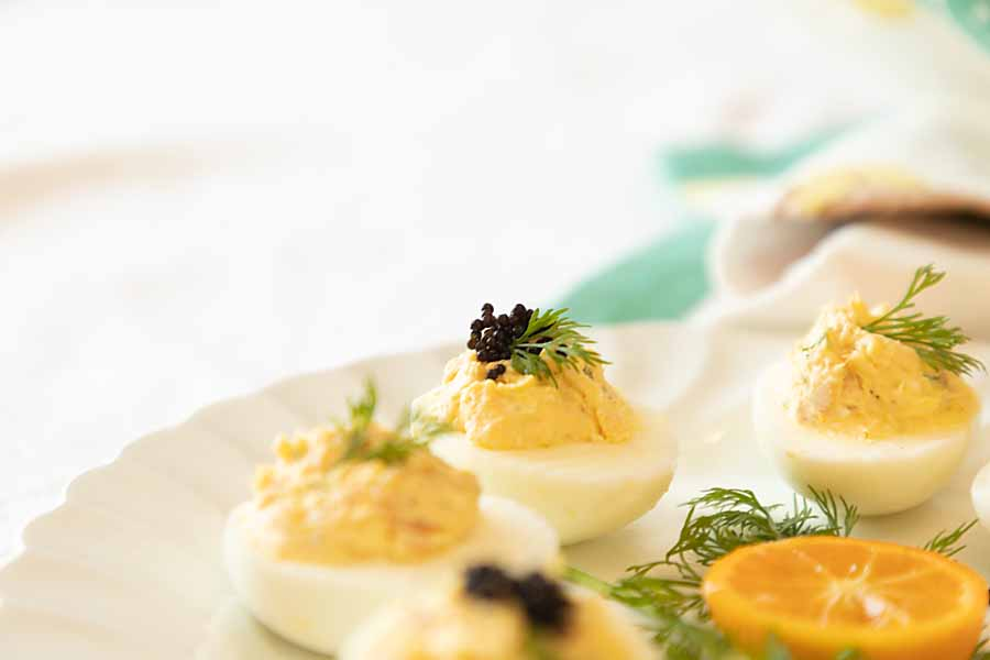 Smoked Salmon Deviled Eggs?  Greek Deviled Eggs? Totally a fan!