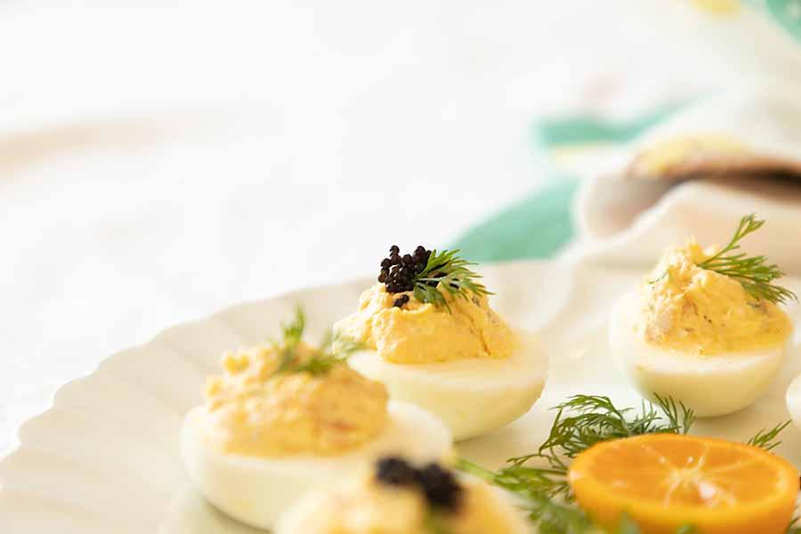 Smoked Salmon Deviled Eggs? Greek Deviled Eggs? Totally a fan!