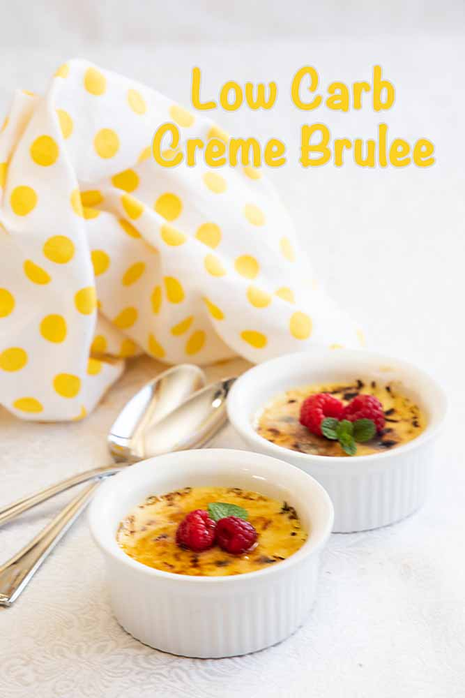 Low-Carb Crème Brulee is every bit as delightful as the original. Creamy, sweet and easier than you'd think, it may just get you through your diet.