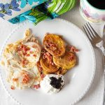 Simple and tasty, fried potato steaks with sour cream takes most of the work our of potato dishes like hash browns or American fried potatoes.