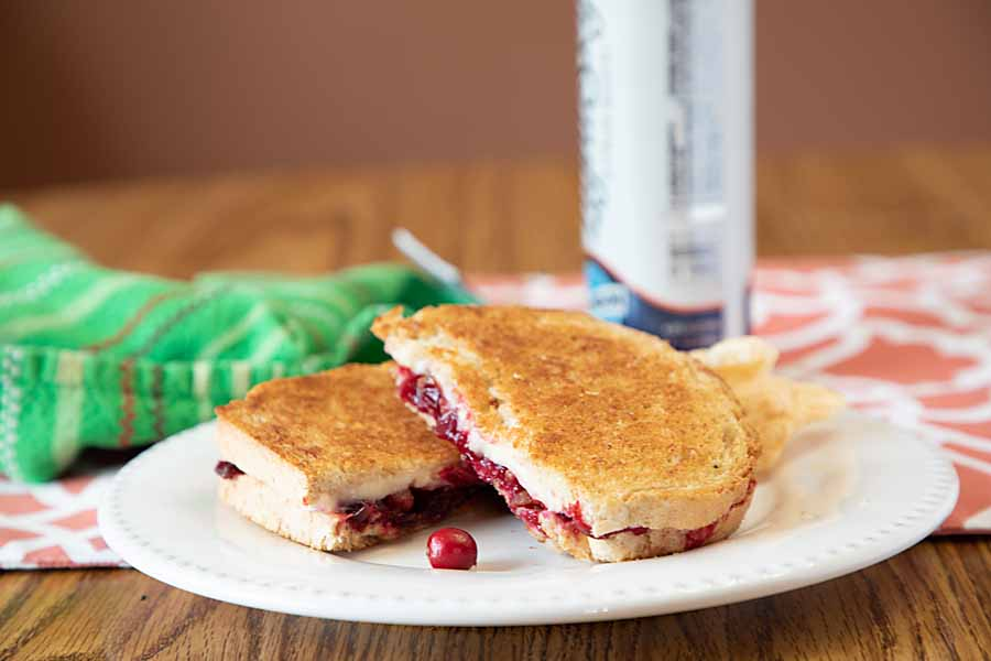Rev up taste and nutrition with this Jammy Brie Grilled Cheese Sandwich. I used sugar free cranberry jam, but you can use anything. Bacon optional.