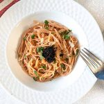 Sleek, flavorful and indulgent (but not as much as you think), Pasta with Vodka Caviar Sauce is a quick and easy entree. Who needs to feel special?