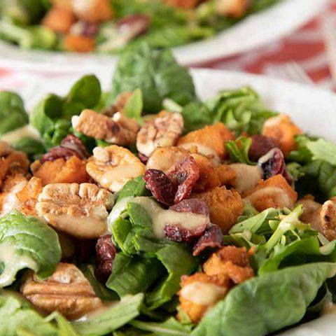 Pecan Sweet Potato Cranberry Salad