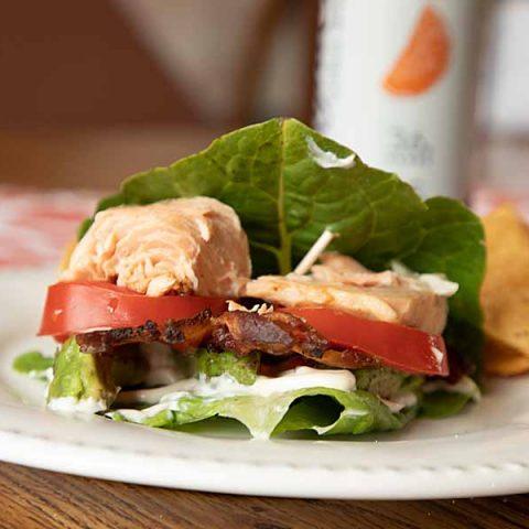 Salmon BLAT Lettuce Wrap