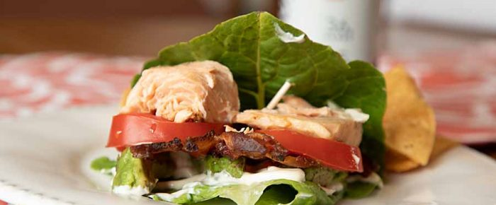Low-Carb Salmon BLAT Lettuce Wrap