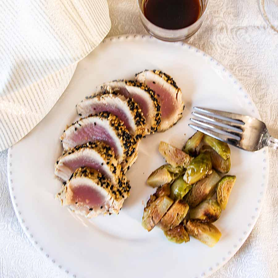 Elegance and great taste belie the ease of preparation of Sesame Crusted Tuna. Drizzle with a quick ginger lime soy sauce for even more flavor.