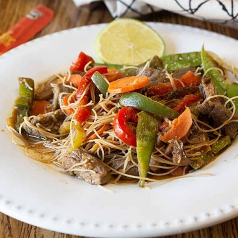 Beef Stir Fry with Rice Noodles
