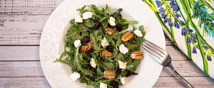 Arugula Sweet Goat Cheese Salad